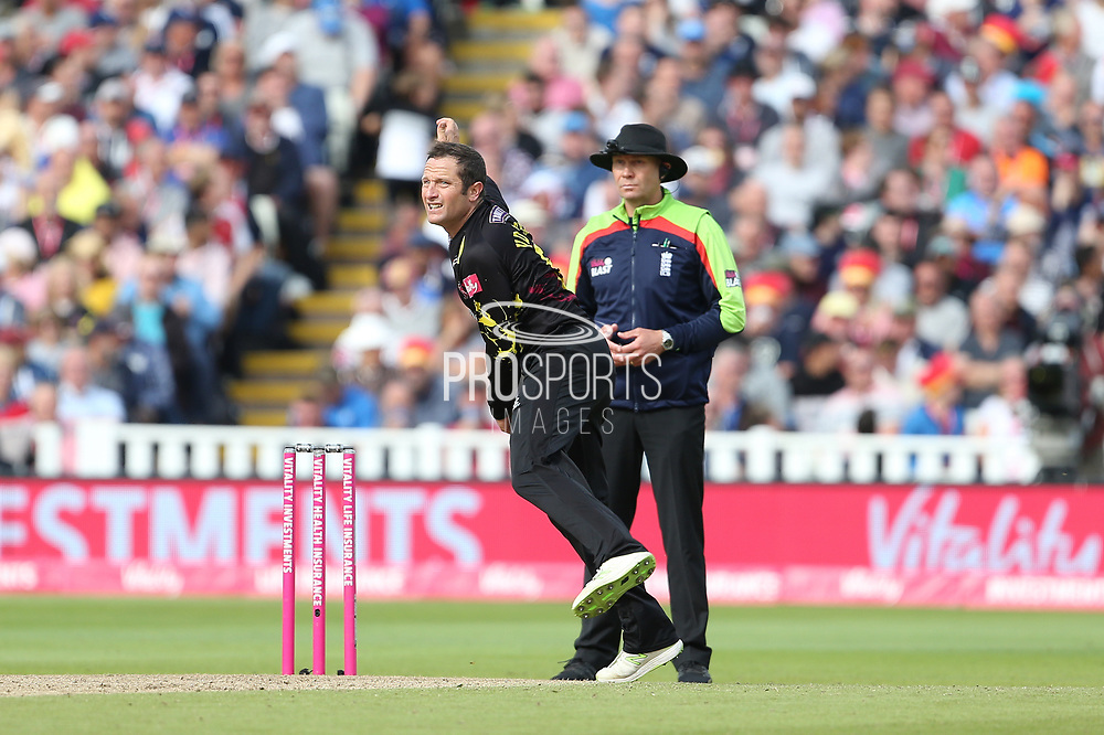 Somersets Van Der Merwe during the Vitality T20 Finals Day semi final 2018 match between Sussex Sharks and Somerset at Edgbaston, Birmingham, United Kingdom on 15 September 2018.