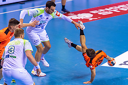 11-04-2019 NED: Netherlands - Slovenia, Almere<br /> Third match 2020 men European Championship Qualifiers in Topsportcentrum in Almere. Slovenia win 26-27 / Borut Mackovsek #51 of Slovenia, Luc Steins #12 of Netherlands