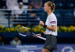 February 22, 2019 - Dubai, ARAB EMIRATES - Petra Kvitova of the Czech Republic in action during her semi-final match at the 2019 Dubai Duty Free Tennis Championships WTA Premier 5 tennis tournament (Credit Image: © AFP7 via ZUMA Wire)