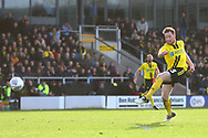 Burton Albion midfielder Stephen Quinn (23) shoots at goal during the EFL Sky Bet League 1 match between Burton Albion and Accrington Stanley at the Pirelli Stadium, Burton upon Trent, England on 23 March 2019.