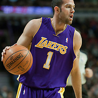 15 December 2009: Los Angeles Lakers guard Jordan Farmar brings the ball upcourt during the Los Angeles Lakers 96-87 victory over the Chicago Bulls at the United Center, in Chicago, Illinois, USA.