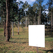 Blank Sign - land for sale