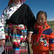 Portraits of local people in Lhoma Towship, Tibet. Asia.
