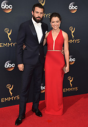 Tom Cullen and Tatiana Maslany attend the 68th Annual Primetime Emmy Awards at Microsoft Theater on September 18, 2016 in Los Angeles, CA, USA. Photo by Lionel Hahn/ABACAPRESS.COM