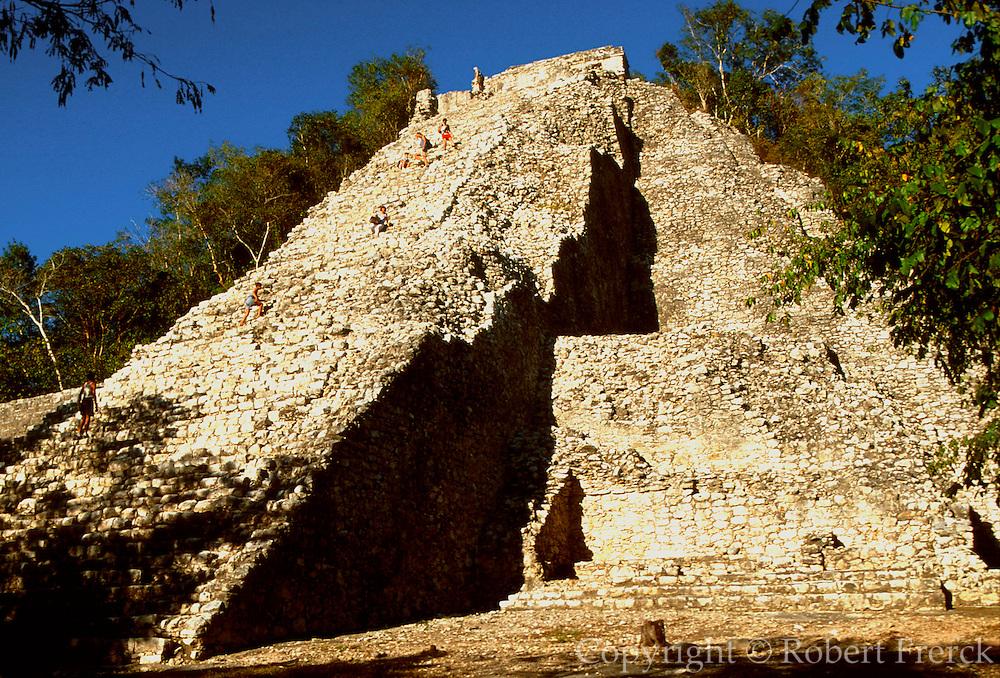 MEXICO, MAYAN, YUCATAN Coba; the Great Pyramid