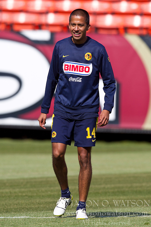 August 3, 2010; San Francisco, CA, USA;  Club America defender Jesus Armando Sanchez (14) practices at Candlestick Park a day before their match with Real Madrid.
