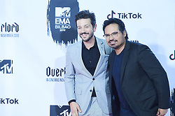 November 4, 2018 - Madrid, Madrid, Spain - Diego Luna, Michael Pena poses in the press room during the 25th MTV EMAs 2018 held at Bilbao Exhibition Centre 'BEC' on November 5, 2018 in Madrid, Spain (Credit Image: © Jack Abuin/ZUMA Wire)