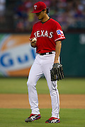 ARLINGTON, TX - JULY 09:  Yu Darvish #11 of the Texas Rangers pitches during the forth inning against the Houston Astros on July 9, 2014 at Globe Life Park in Arlington in Arlington, Texas.  (Photo by Cooper Neill/Getty Images) *** Local Caption *** Yu Darvish