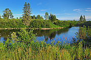 Scene along the Black River<br /> Ste Jeanne dArc<br /> Quebec<br /> Canada