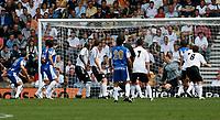 Photo: Steve Bond.<br />Derby County v RCD Espanyol. Pre Season Friendly. 04/08/2007.  Sergio Sanchez (5 obscured) screws the ball in for Espanyols equaliser