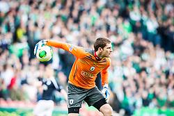 Falkirk's keeper Michael McGovern..Hibernian 4 v 3 Falkirk, William Hill Scottish Cup Semi Final, Hampden Park...