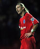 Fotball<br /> England 2004/2005<br /> Foto: BPI/Digitalsport<br /> NORWAY ONLY<br /> <br /> 21/11/2004 <br /> Blackburn Rovers v Birmingham City<br /> FA Barclays Premiership, Ewood Park<br /> <br /> Robbie Savage cannot believe his team's catipulation at full time