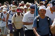 Nederland, Nijmegen, 19-7-2007..Vierdaagse, de dag van Groesbeek. Traditioneel de zwaarste vanwege de zevenheuvelenweg die een vijftal heuvels heeft tussen Groesbeek en Berg en Dal.. Hier afzien op de zevenheuvelenweg...Foto: Flip Franssen/Hollandse Hoogte