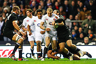 Picture by Andrew Tobin/SLIK images +44 7710 761829. 2nd December 2012. Mike Brown in action during the QBE Internationals match between England and the New Zealand All Blacks at Twickenham Stadium, London, England. England won the game 38-21.