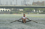 Seville, Andalusia, SPAIN<br /> <br /> 2002 World Rowing Championships - Seville <br /> - Spain <br /> <br /> Thursday  19/09/2002.<br /> <br /> GER M2X Bow. Andre Willms and Andreas Hajek<br />  <br /> Rio Guadalquiver Rowing course<br /> <br /> <br /> [Mandatory Credit:Peter SPURRIER/Intersport Images]