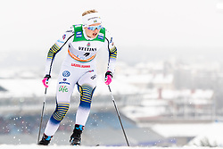 February 9, 2019 - Lahtis, FINLAND - 190209  Maja Dahlqvist of Sweden competes in the women's sprint qualification during the FIS Cross-Country World Cup on February 9, 2019 in Lahti..Photo: Johanna Lundberg / BILDBYRN / 135946 (Credit Image: © Johanna Lundberg/Bildbyran via ZUMA Press)
