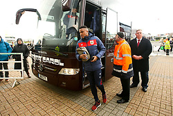 Niclas Eliasson of Bristol City arrives at Pride Park Stadium for the Sky Bet Championship game against Derby County - Mandatory by-line: Robbie Stephenson/JMP - 22/12/2018 - FOOTBALL - Pride Park Stadium - Derby, England - Derby County v Bristol City - Sky Bet Championship