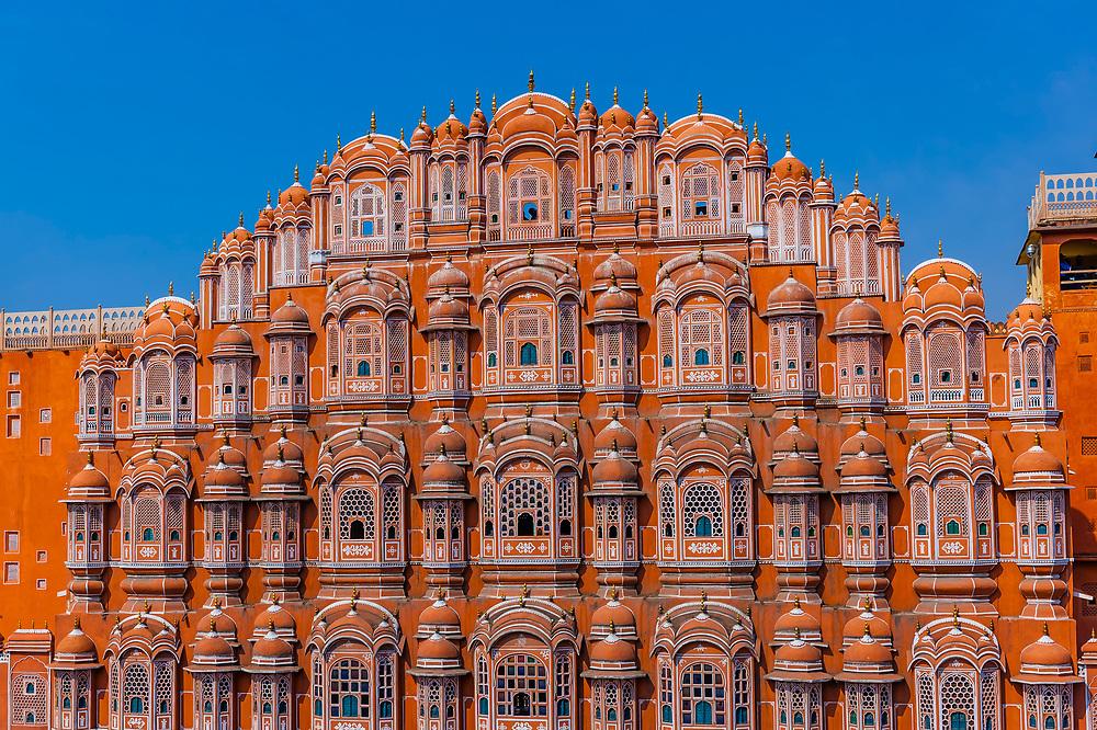 Palace of the Winds (Hawa Mahal), Jaipur, Rajasthan, India.