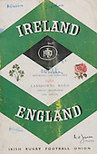 Rugby 11/02/1961 Five Nations Ireland Vs England
