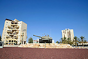 Israel, Beer Sheva, A tank on a traffic circle in the city