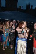 ANNA WILLIAM; LADY BELLA INNES-KER; ELISE SAUNDERS-WATSON; GRACE HAMMOND; , Alice Manners 18th   birthday. Belvoir Castle, Grantham. 12 April 2013.