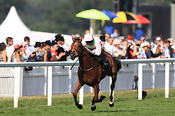 Thomas Hobson ridden by jockey Ryan Moore on the way to winning the Ascot Stakes during day one of Royal Ascot at Ascot Racecourse.