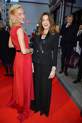 PRINCESS LILLY ZU SAYN WITTGENSTEIN BERLEBURG and CARLA SARKOZY at the launch of the new Bulgari flagship store at 168 New Bond Street, London on 14th April 2016.