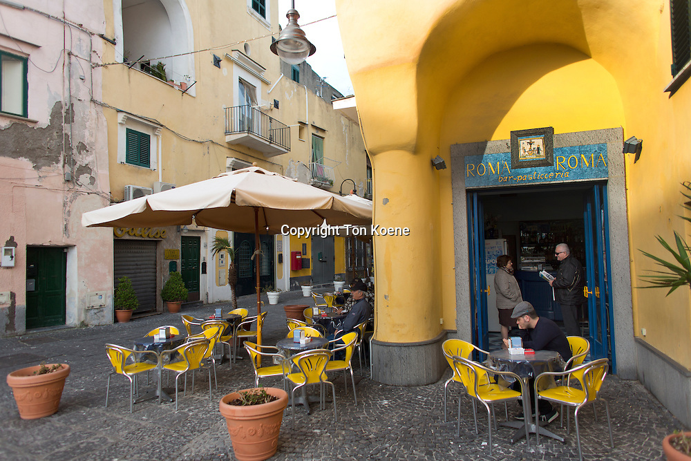terras at Procida Island, one hour boat ride from naples
