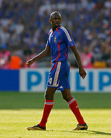 Photo: Glyn Thomas.<br />France v Switzerland. Group G, FIFA World Cup 2006. 13/06/2006.<br /> France's Patrick Vieira.