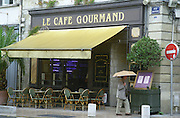 Le Cafe Grourmand restaurant on Place des Grands Hommes. Bordeaux city, Aquitaine, Gironde, France
