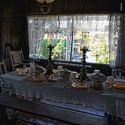 The dining table setting inside the Yap-Sandiego ancestral house, one of the oldest houses in the Philippines. It was built during the 17th century by Chinese merchants residing in Parian, and is now under the care of Val Sandiego and his family.