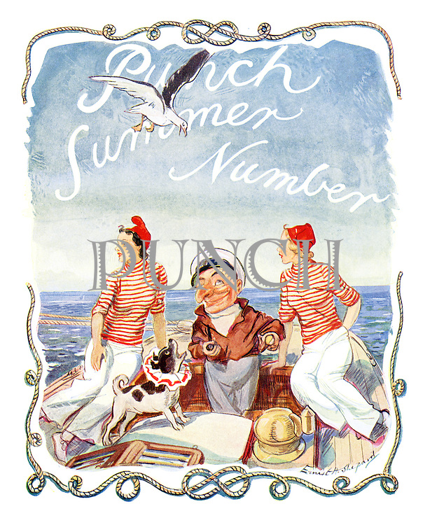 (Punch Summer Number cover 1937)