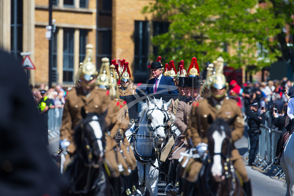 A dress rehearsal takes place in Windsor ahead of the royal wedding when HRH Prince Harry weds actress Megan Markle. Windsor, May 17 2018.
