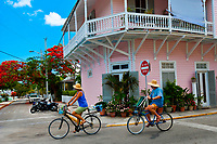 Street scene, Key West, Florida Keys, Florida USA