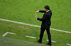 LYON, FRANCE - Wednesday, July 6, 2016: Wales manager Chris Coleman issues instructions during the UEFA Euro 2016 Championship Semi-Final match against Portugal at the Stade de Lyon. (Pic by Paul Greenwood/Propaganda)