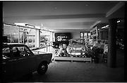 06/09/1962<br /> 09/06/1962<br /> 06 September 1962<br /> Showroom at McCairns Motors Ltd., Santry, Dublin. Car on display is a Simca 1000.