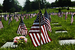 May 27, 2019 - Daytoin, Ohio, USA - Flags Stand tall over the Gravesites inside of the Dayton National Cemetery in Dayton,Ohio. On Memorial Day on Mon May 27,2019. For member of the the United States  Service who have pass away and have there body in the Dayton Cemetery that was build in 1867 in Dayton,Ohio. (Credit Image: © Ernest Coleman/ZUMA Wire)