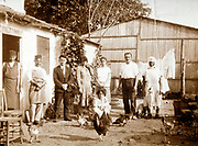 western people visiting a Moroccan farm 1930s