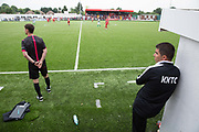 Northern Cyprus coaches. Northern Cyprus 3 v Padania 2 during the Conifa Paddy Power World Football Cup semi finals on the 7th June 2018 at Carshalton Athletic Football Club in the United Kingdom. The CONIFA World Football Cup is an international football tournament organised by CONIFA, an umbrella association for states, minorities, stateless peoples and regions unaffiliated with FIFA.