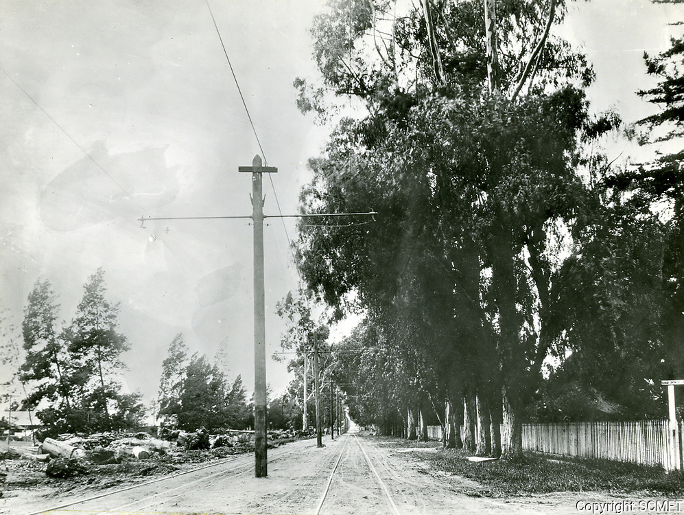 1906 Looking west on Santa Monica Blvd. from Gower Ave.