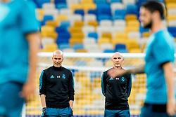 May 25, 2018 - Kyiv, UKRAINE - 180525 Zinedine Zidane, head coach of Real Madrid, and David Bettoni, assistant coach, during a training session on May 25, 2018 in Kyiv..Photo: Vegard Wivestad GrÂ¿tt / BILDBYRN / kod VG / 170177 (Credit Image: © Vegard Wivestad Gr¯Tt/Bildbyran via ZUMA Press)
