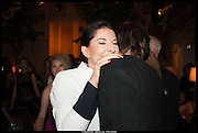 MARINA ABRAMOVIC; RORY LOGSDAIL, Lisson Gallery reception at Chiltern Firehouse after the openings of work by Marina Abramovic: White Space and Nathalie Djurberg & Hans Berg: The Gates of the Festival, 15 September 2014