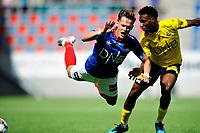 Fotball , Eliteserien<br /> 11.06.2021 , 20210611<br /> Vålerenga - Lillestrøm<br /> Henrik Udahl - Vålerenga<br /> Ogbu Igoh - Lillestrøm<br /> Foto: Sjur Stølen / Digitalsport