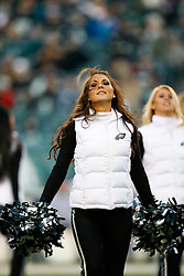 Philadelphia Eagles Cheerleaders perform during the NFL game between the Denver Broncos and the Philadelphia Eagles on December 27th 2009. The Eagles won 30-27 at Lincoln Financial Field in Philadelphia, Pennsylvania. (Photo By Brian Garfinkel)