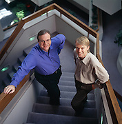 Paul Allen, co-founder of Microsoft and billionaire.  Photographed at Vulcan Ventures in Washington State with his business manager Billy Savoy.