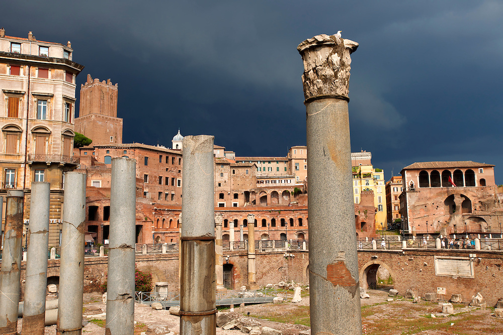 Trajan's forum and market . Rome .<br /> <br /> Visit our ITALY HISTORIC PLACES PHOTO COLLECTION for more   photos of Italy to download or buy as prints https://funkystock.photoshelter.com/gallery-collection/2b-Pictures-Images-of-Italy-Photos-of-Italian-Historic-Landmark-Sites/C0000qxA2zGFjd_k<br /> .<br /> <br /> Visit our ROMAN ART & HISTORIC SITES PHOTO COLLECTIONS for more photos to download or buy as wall art prints https://funkystock.photoshelter.com/gallery-collection/The-Romans-Art-Artefacts-Antiquities-Historic-Sites-Pictures-Images/C0000r2uLJJo9_s0