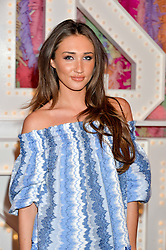 MEGAN McKENNA at a party to celebrate the new partnership of Maids to Measure with Touker Suleyman held in The Winter Marquee, Home House, 20 Portman Square, London on 2nd March 2016.