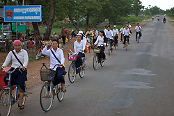 Teenagers Riding Bicycles