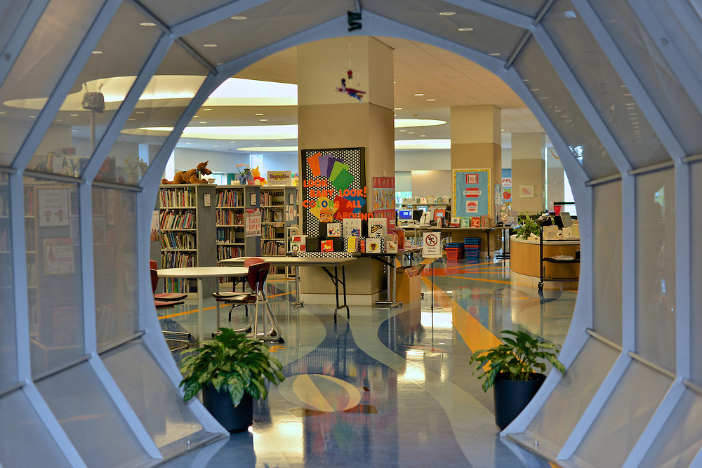 Entrance to the children's section of the Akron-Summit County Public Library.