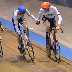 30-12-2017: Wielrennen: NK Baan: Alkmaar<br />Dion Beukeboom, Jan Willem vna t Schip pakten zilver op de madison